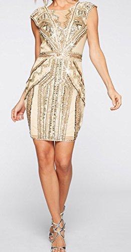 elegantes festliches Kleid mit Schmuckapplikation Partykleid ...