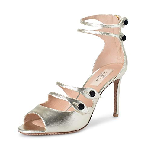 VALENTINO Women's Silver Leather High Heel Sandals for sale  Delivered anywhere in USA