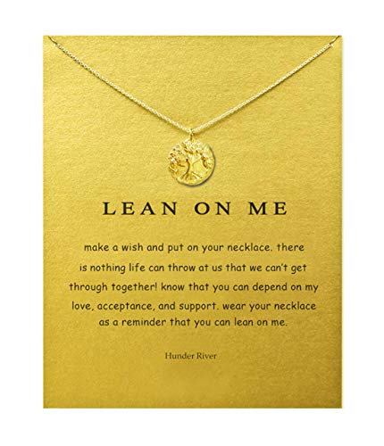 Hundred River Tree of Life Necklace with Message Card Gift Card(Life Tree)