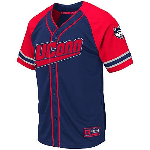 Mens UConn Connecticut Huskies Wallis Baseball Jersey - 2XL