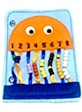 Orange Jellyfish bead counting felt quiet book page #18