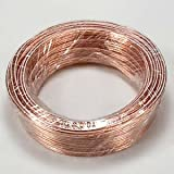 InstallerParts 22AWG 2-Conductor Polarized Copper Speaker Wire (Clear, 50 Feet)