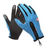 AINIYF Outdoor Sports Smart Gloves | Riders For Men And Women Autumn And Winter Motorcycles Sports Gloves Thin Section Plus Velvet Windproof Waterproof Winter Riding Cold And Warm