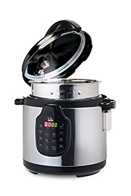 Elite Platinum 11-in-1 Electric Pressure Cooker, Slow Cooker, Stainless Steel Cooking Pot, 6Qt. 1000W from Maximatic