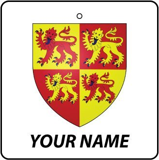 (Personalized Wales Coat Of Arms Car Air Freshener)