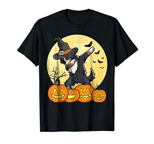 Dabbing Bernese Mountain Dog Halloween T-Shirt Dab Pet Shirt ()