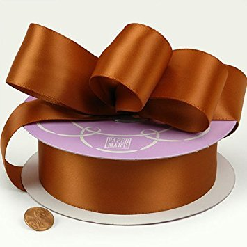 Copper Double Face Satin Ribbon, 1-1/2