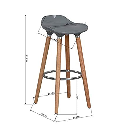 Amazon Com Wohomo Kitchen Counter Height Bar Stools 32 Inches Grey
