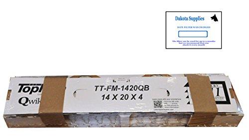 TopTech tt-fm-1420qb Quickbox ( R ) TechPure ttfm1420qbエアフィルタ14x 20x 4トップTech OEMカートリッジ14by 20by 4in炉MERV 11for Carrier tt-mac-1422with Dakota Supplyインストールステッカー