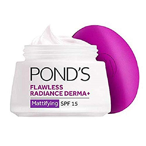 (Pond's Flawless White Radiance Derma+ Mattifying  Day Cream SPF 15 PA++ - 50g)