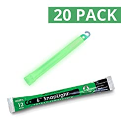 Cyalume SnapLight Green Glow Sticks - 6 ...