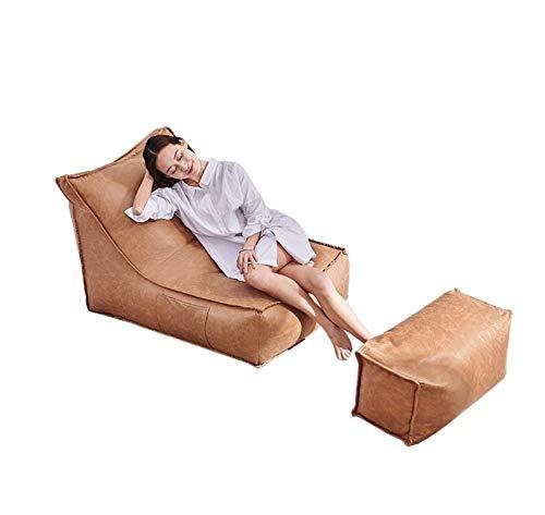 MTkxsy 怠惰な豆の袋のソファー取り外し可能なリビングルームの寝室のリビングルームのバルコニーの豆の袋シングルアダルト畳  Earthy yellow B07QB27B5Y
