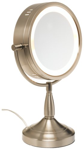 Jerdon Lt856n 8 5 Inch Lighted Vanity Mirror With 7x