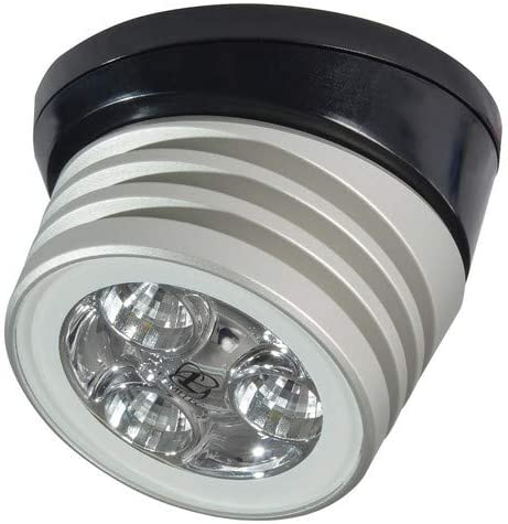 Brushed Black Base Lumitec Zephyr Led Spreader//Deck Light White Non-Dimming
