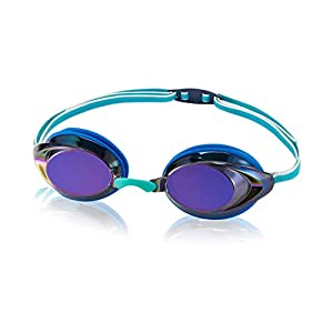 Speedo Unisex-Child Swim Goggles Vanquisher 2.0 Junior Mirrored Blue/Iris