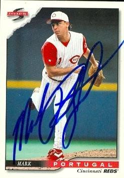 Autograph Warehouse 57314 Mark Portugal Autographed Baseball Card Cincinnati Reds 1996 Score No .458 ()