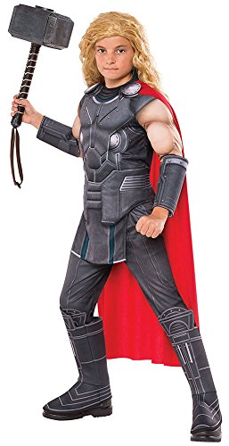 Asgardian Costumes (Boys Halloween Costume-Thor Child Deluxe Kids Costume Small)
