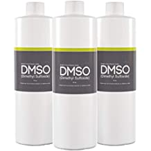DMSO Dimethyl Sulfoxide 3 Bottles of 16 oz Low Odor 99.995% Pure Pharma Grade, BPA Free