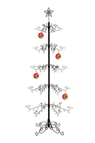 HOHIYA Artificial Xmas Christmas Tree Metal Ornament Stand 7 to 8 (Wrought Iron Ornament Tree)