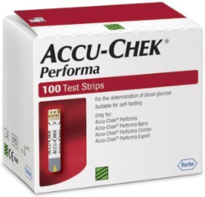 Accu-Chek Performa Strips 100 Tests Glucometer(White, Red)