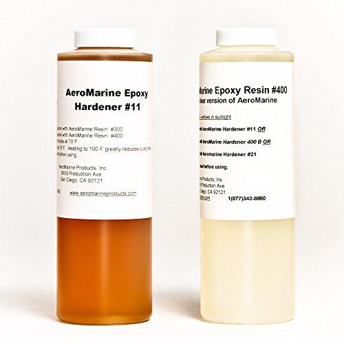 AeroMarine 400 Liquid A/B Epoxy Resin Adhesive 1 quart (400 Resin)