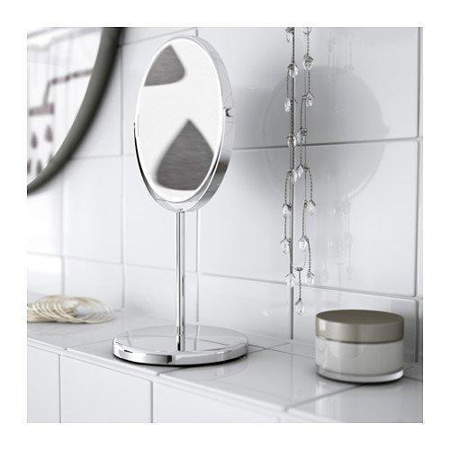 Metallo Ikea Trensum Specchio 17x17x33 cm Argento