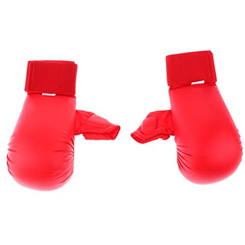 MagiDeal 1 Pair Martial Arts Boxing Gloves – Karate Taekwondo Sparring Karate Gloves with Thumb Martial Arts Equipment Karate Sparring Gear S/M/L/XL