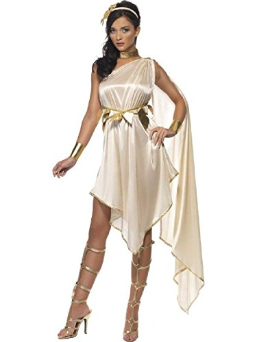Ladies Toga Costumes (OvedcRay Greek Fever Goddess Costume Roman Athena Toga Female Lady Woman Costumes Dress)