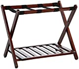 Wooden Foldable Chairs for Sale Casual Home  Luggage Rack, Walnut