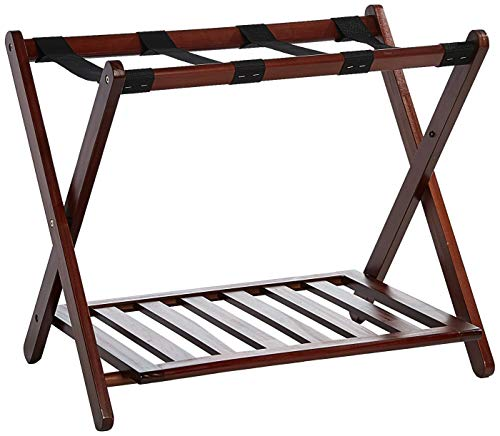 Casual Home Luggage Rack with Shelf -