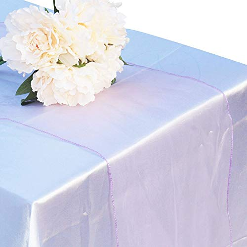 yah! 10pcs Organza Table Runner Modern Soft Sheer Fabric Crystal Chair Sashes Bows Swag for Wedding Party Banquet Decoration -