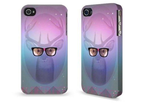 """Hülle / Case / Cover für iPhone 4 und 4s - """"Deer Geek"""" by Aurelie Scour"""