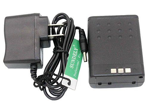 Sundely Replacement BP-173 BP-180 Lithium-Ion Battery & Charge Combo For ICOM Radios IC-T70 IC-T7 IC-T22 IC-W31 IC-Z1