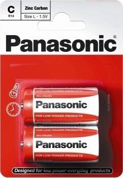 Panasonic- C Size Battery Zinc Carbon - 2 Pack
