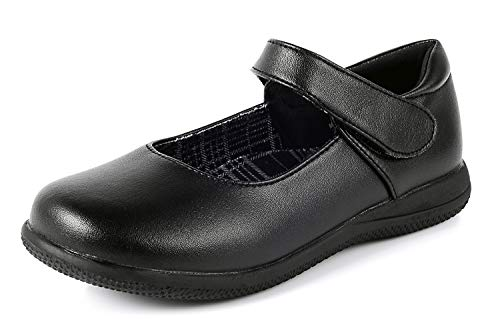 Girl's Mary Jane Flat Black School Uniform Shoe (Toddler/Little Kid/Big Kid)