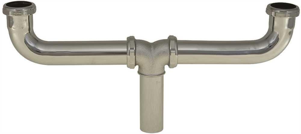 NATIONAL BRAND ALTERNATIVE 47350 Center Outlet Waste 1-1//2 X 16 Brass 20 Gauge Slip Joint Chrome