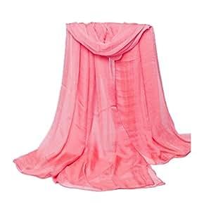 Bufandas bufandas suave abrigo de gasa primavera otoño largo mango puro mantón para las mujeres Bobury: Amazon.es: Hogar
