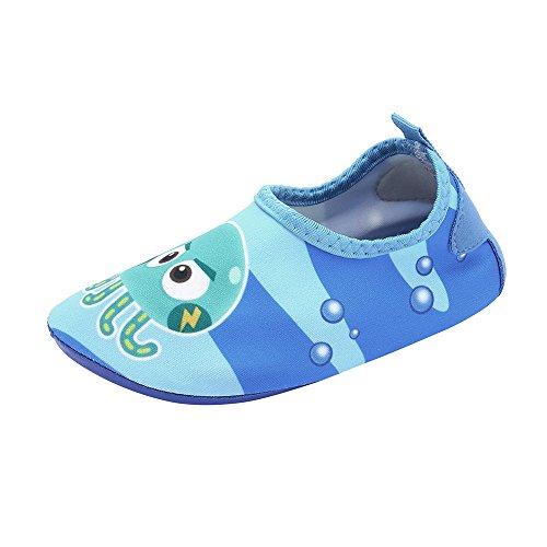 (HAPPIShare Toddler Kids Swim Water Shoes Quick Dry Non-Slip Water Skin Barefoot Sports Shoes Aqua Socks for Boys Girls)