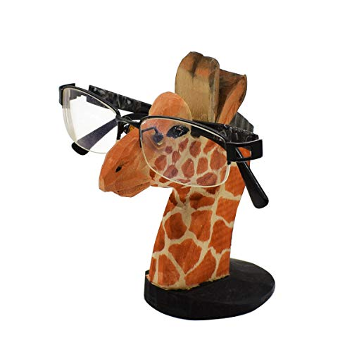 - VIPbuy Handmade Wood Carving Eyeglasses Spectacle Holder Stand Sunglasses Display Rack Home Office Desk Décor Gift (Giraffe)