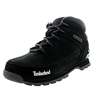 Timberland Mens EURO Sprint Hiker Hiking Leather Grey Ankle Boots - Dark Grey - 9.5