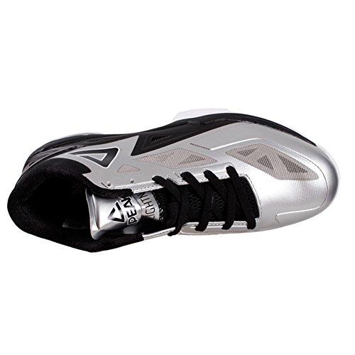 PEAK Mens NBA Player Exclusive George Hill Lightning II Basketball Shoes Silver/Black nRIEEy