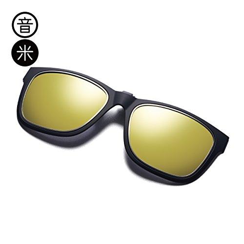 Aire Para Uv De Gafas Viento Sol Cumpleaños Gafas Black Black Clip Mujer Regalos LLZTYJ frame De Sol Decoración Polarizado Clip Gafas Box gold Hombres Sol Al Libre De Blue Conducción Clip OXtyq