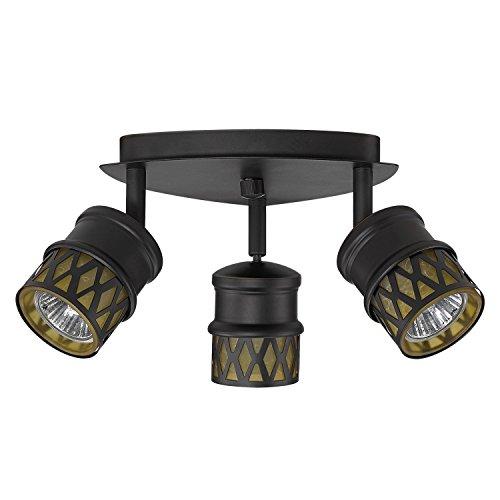 Globe Electric 59087 Kearney 3-Light Canopy, Oil Rubbed Bronze Light Canopy Track