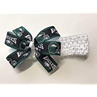 Girls Philadelphia Eagles Headband Eagles Football NFL Hair Bow for Newborn Baby Girl