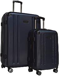 Kenneth Cole Reaction 8 Wheelin Expandable Luggage Spinner Wheeled Suitcase, 2 Pc Set , 29 & 20-inch