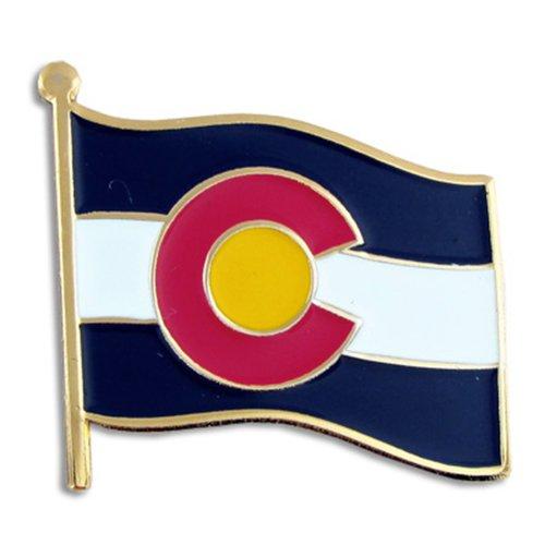 "PinMart's Colorado US State Flag CO Enamel Lapel Pin 1"""