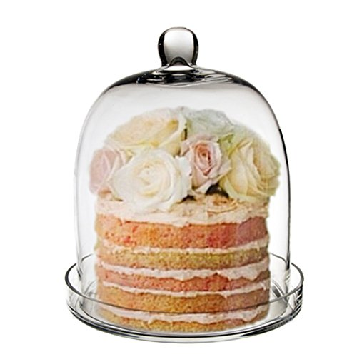 Bell Bottom Glass - CYS EXCEL Cloche Bell Glass Dome with Tray