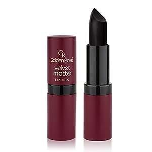 Golden Rose Velvet Matte Lipstick - 33 - Midnight Black