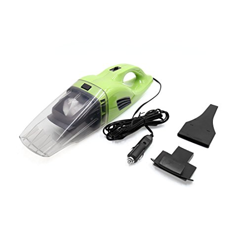 uxcell DC 12V 100W Portable Auto Car Handheld Wet Dry Vacuum Dirt Cleaner Dustbuster Green - Green Rechargeable Vacuum