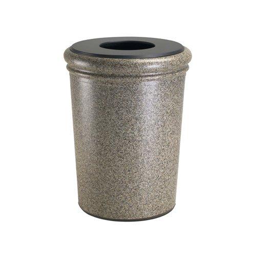 Commercial Zone 50 Gallon Waste Container, Concrete, RiverStone